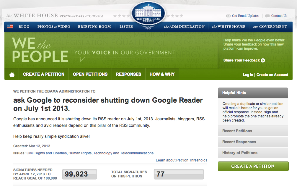 Google Reader is going away, and the Internet is not happy.